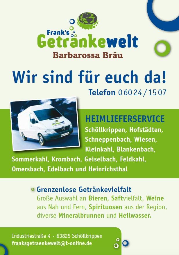 Frank`s Getränkewelt Lieferservice